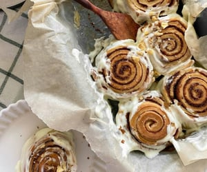 cinnamon roll, delicious, and food image