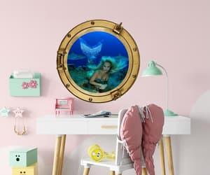mermaid t shirt, mermaid sticker, and mermaid wall decal image