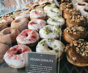 sprinkles, yummy, strawberry and donuts