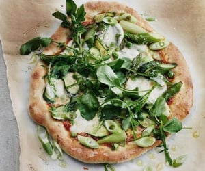 healthy, green food, pizza and food