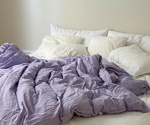 bed, purple, and aesthetic image