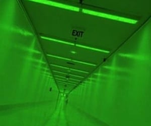 aesthetic, exit, and green image