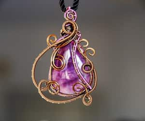 etsy, necklaces, and purple image