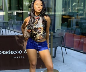 denim shorts, outfit, and xxco image