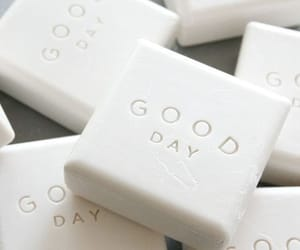 good day, white, and soap image
