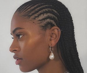 hair, cornrows, and melanin image