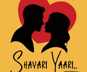 love shayari, dosti shayari, and shayari in hindi image