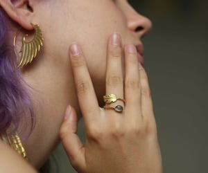 accessories, earrings, and hippie image