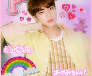 jin, pink, and bts image