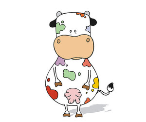 colors, cow, and draw image