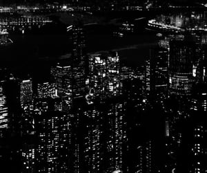 aesthetics, b&w, and city lights image