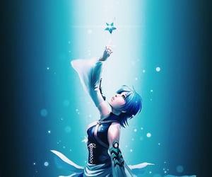 anime, aqua, and kingdom hearts image