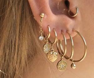 woman, earrings, and girl image
