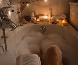 book, bath, and relax image