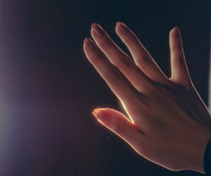 aesthetic, hand, and lights image