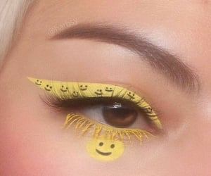 pastel, liner, and yellow image