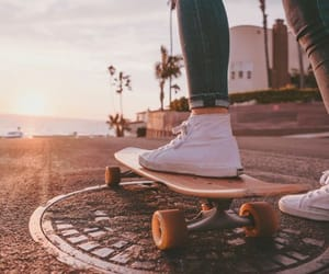 aesthetic, skateboard, and summer image