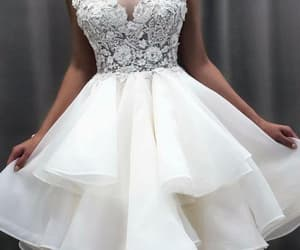 tiered prom dress, cheap graduation dresses, and prom dresses short image