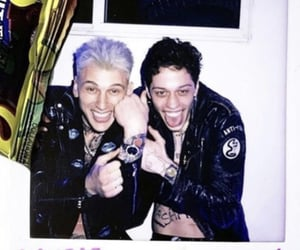machine gun kelly, colson baker, and pete davidson image