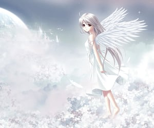 angelcore, angel, and anime image