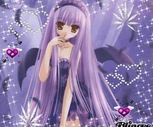 purple, anime, and gif image