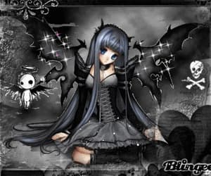 anime, goth, and blingee image