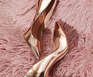 shoes, gold, and aesthetic image