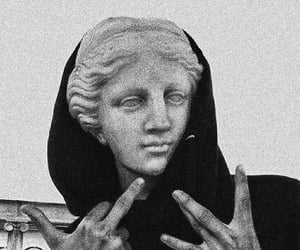 statue, black, and grunge image