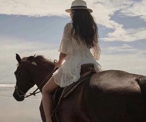 horse, fashion, and girl image