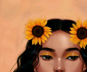 art, illustration, and sunflower image
