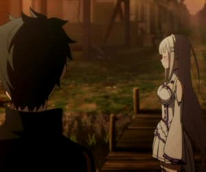 anime, blue, and emilia image