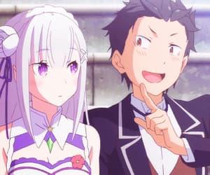 anime, emilia, and gif image