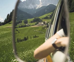 nature, car, and girl image