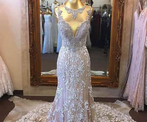 fashion, dress, and wedding gown image