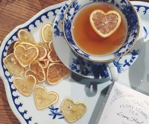 tea, drink, and lemon image