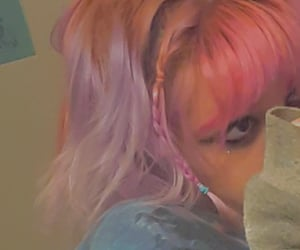 aesthetic, dyed hair, and eyeliner image