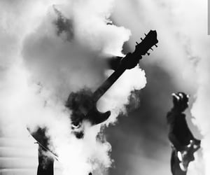 bass, black and white, and demon image