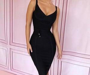 black dress, elegance, and fashion image