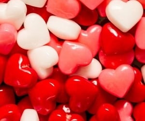 coeur, hearts, and red image
