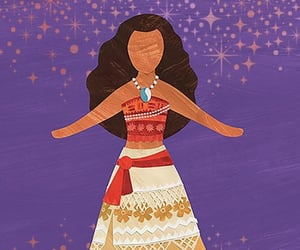 disney, film, and paper doll image