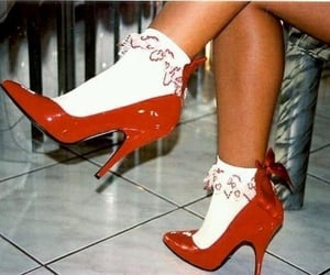 chaussures, socks, and fashion image