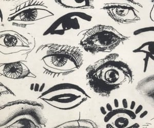 eyes, drawing, and theme image