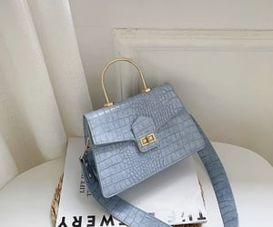bag, blue, and luxury image