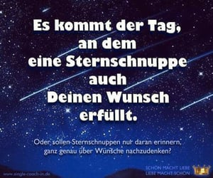 star, spruch, and wunsche image