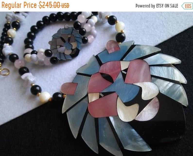 etsy, lion necklace, and statement bracelet image