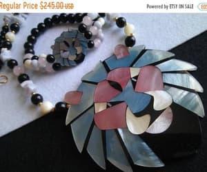 Lee Sands 1980s Vintage  Lion Necklace Bracelet Collectible image 0