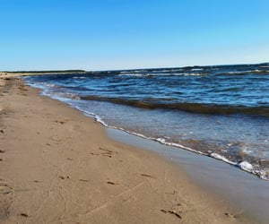 beach, beautiful, and finland image