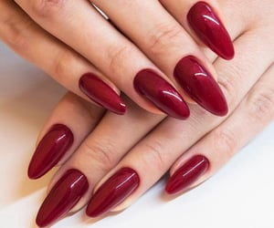 nails, red, and burgundy image