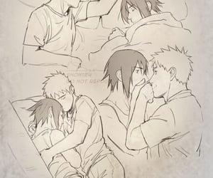 sasuke, anime, and sasunaru image