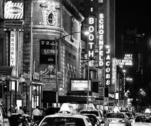 black and white, cars, and new york image